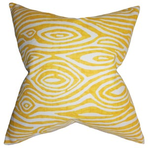 Thirza Yellow 18 x 18 Geometric Throw Pillow