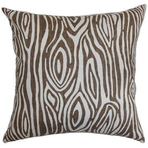 Thirza Brown 18 x 18 Geometric Throw Pillow
