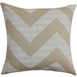 Eir Brown 18 x 18 Zigzag Throw Pillow