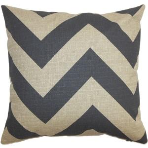 Eir Gray 18 x 18 Zigzag Throw Pillow