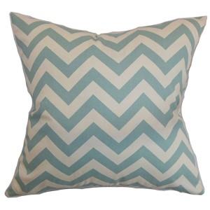 Xayabury Blue 18 x 18 Zigzag Throw Pillow