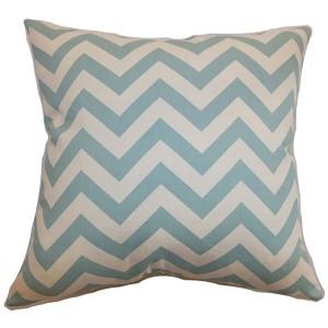 Xayabury Aqua 18 x 18 Zigzag Throw Pillow