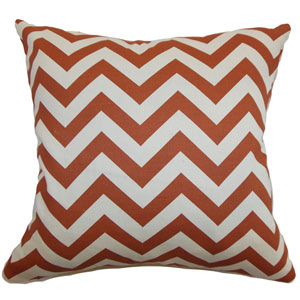 Xayabury Zigzag Pillow Adventurous Red Natural