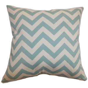 Xayabury Zigzag Pillow Aqua Natural