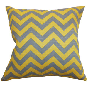 Xayabury Zigzag Pillow Ash Corn Yellow