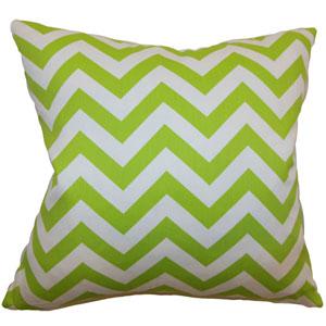 Xayabury Zigzag Pillow Chartreuse