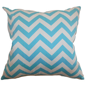 Xayabury Zigzag Pillow Girly Blue Twill