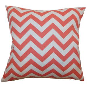 Xayabury Zigzag Pillow Coral White