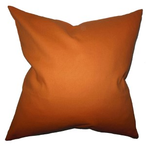 Kalindi Orange 18 x 18 Solid Throw Pillow