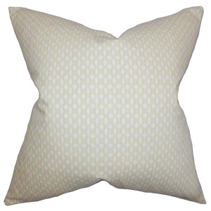 Orit Stone 18 x 18 Geometric Throw Pillow