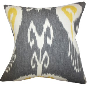 Cleon Strom 18 x 18 Ikat Throw Pillow