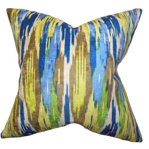 Ulyanka Blue 18 x 18 Geometric Throw Pillow