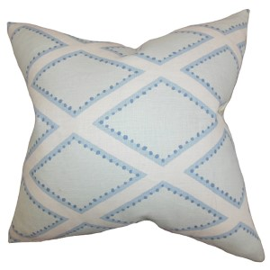 Alaric Chambray 18 x 18 Geometric Throw Pillow