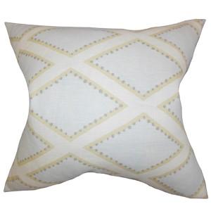 Alaric Blue 18 x 18 Geometric Throw Pillow