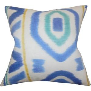 Rivka Blue 18 x 18 Geometric Throw Pillow
