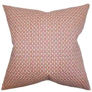 Orit Red 18 x 18 Geometric Throw Pillow