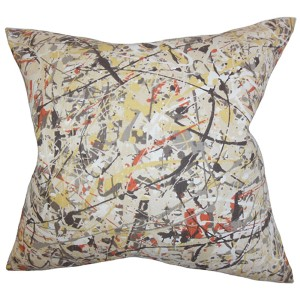 Geneen Black 18 x 18 Geometric Throw Pillow
