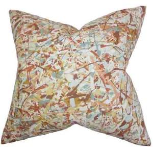 Geneen Brown 18 x 18 Geometric Throw Pillow