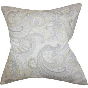 Iphigenia Gray 18 x 18 Floral Throw Pillow