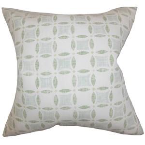 Jeune Green 18 x 18 Geometric Throw Pillow