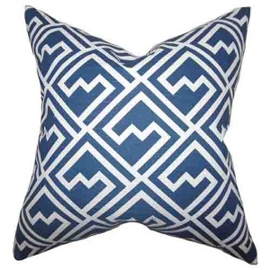 Ragnhild Blue 18 x 18 Geometric Throw Pillow