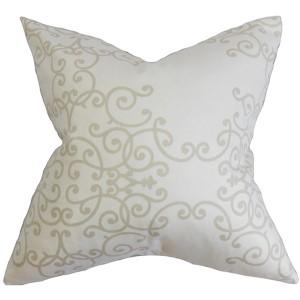 Fianna White 18 x 18 Floral Throw Pillow