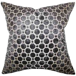 Kostya Black 18 x 18 Geometric Throw Pillow