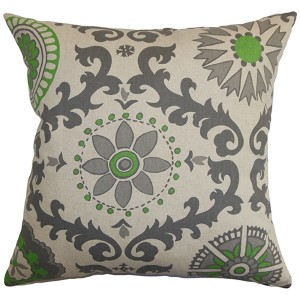 Kaula Gray 18 x 18 Geometric Throw Pillow