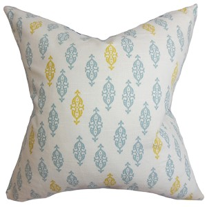 Ziven Blue 18 x 18 Geometric Throw Pillow