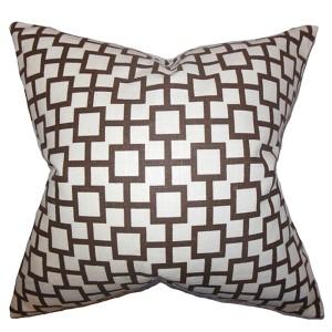Janka Red 18 x 18 Geometric Throw Pillow