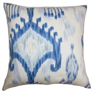Talisha Blue 18 x 18 Patterned Throw Pillow