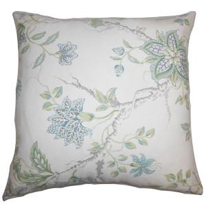 Ululani Blue 18 x 18 Floral Throw Pillow