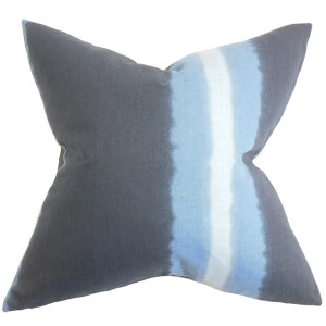 Djuna Blue 18 x 18 Stripes Throw Pillow