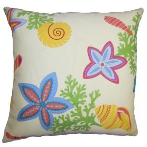 Jaleh Green 18 x 18 Coastal Throw Pillow
