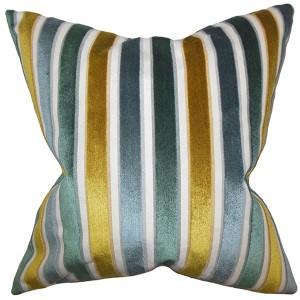 Alton Blue 18 x 18 Stripes Throw Pillow