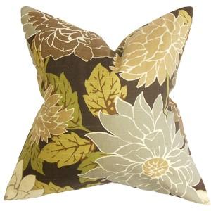 Kerensa Brown 18 x 18 Floral Throw Pillow