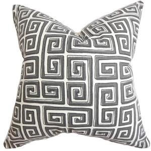 Klemens Gray 18 x 18 Geometric Throw Pillow