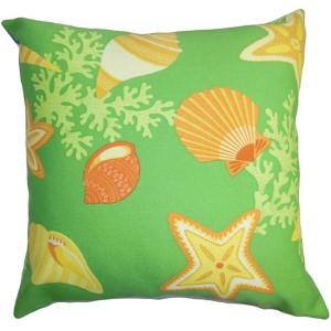 Jaleh Yellow 18 x 18 Coastal Throw Pillow