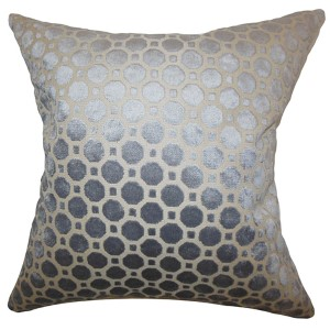 Kostya Gray 18 x 18 Geometric Throw Pillow
