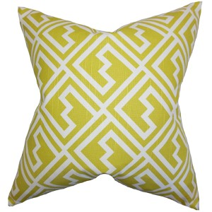 Ragnhild Green 18 x 18 Geometric Throw Pillow