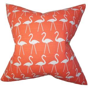 Elili Salmon Pink 18 x 18 Animal Throw Pillow