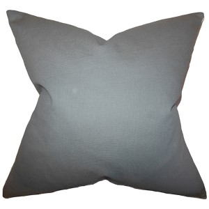 Kalindi Gray 18 x 18 Solid Throw Pillow
