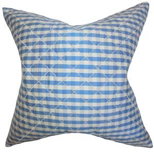 Addisyn Blue 18 x 18 Plaid Throw Pillow