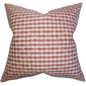Addisyn Red 18 x 18 Plaid Throw Pillow