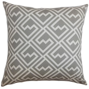 Ragnhild Gray 18 x 18 Geometric Throw Pillow