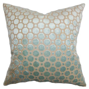 Kostya Blue 18 x 18 Geometric Throw Pillow