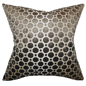 Kostya Terrain Black 18 x 18 Geometric Throw Pillow