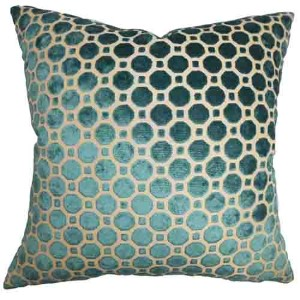 Kostya Turquoise 18 x 18 Geometric Throw Pillow