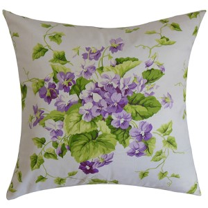 Haru Purple 18 x 18 Floral Throw Pillow