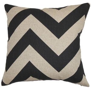 Eir Black 18 x 18 Zigzag Throw Pillow